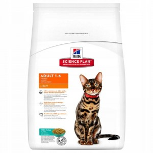 Hill's Feline Adult Light, tuńczyk 5kg
