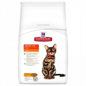 Hill's Feline Adult Light, kurczak 10kg