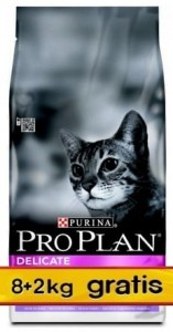 Purina Pro Plan Cat Delicate OptiDigest 10kg (8+2kg)