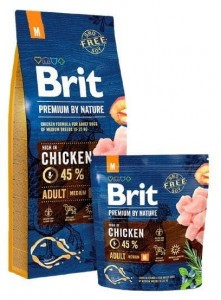 Brit Premium By Nature Adult M Medium 1kg