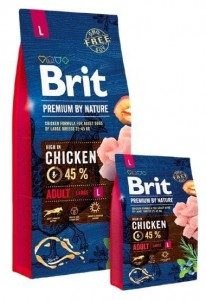 Brit Premium By Nature Adult L Large 15kg